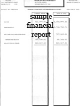 Sample Deposit Slip · Sample Arrears Report · Sample Financial Report